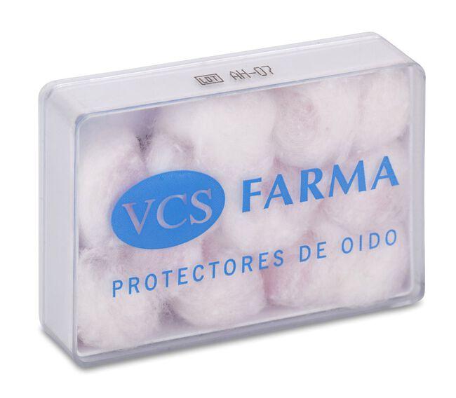 VCS Pharma Tapones Oído Cera y Algodón, 12 Uds