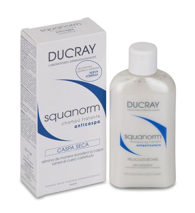 Ducray Squanorm Champú Tratante Anticaspa Caspa Seca, 200 ml
