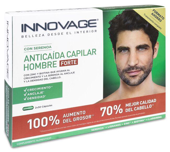 Innovage Antícaida Capilar Hombre Forte, 2 x 30 Cápsulas