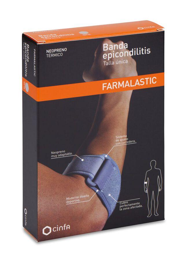 Farmalastic Banda Epicondilitis Neopreno Talla Única, 1 Ud