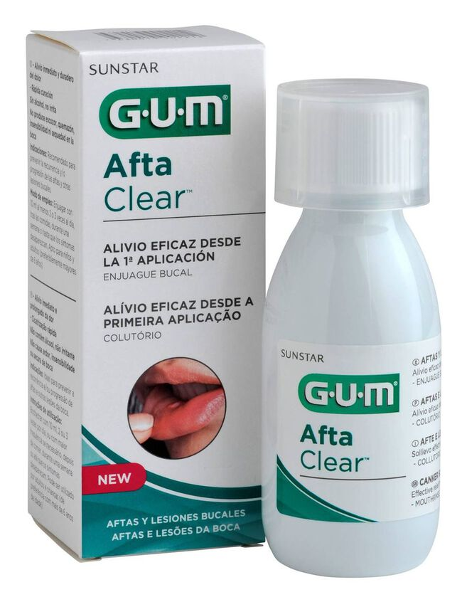 GUM Afta Clear Colutorio, 120 ml