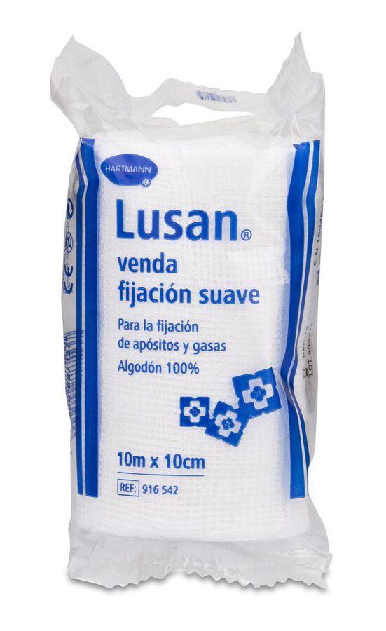 Lusan Venda De Gasa Hidrofila Cambric Fijacion Suave, 10 Cm
