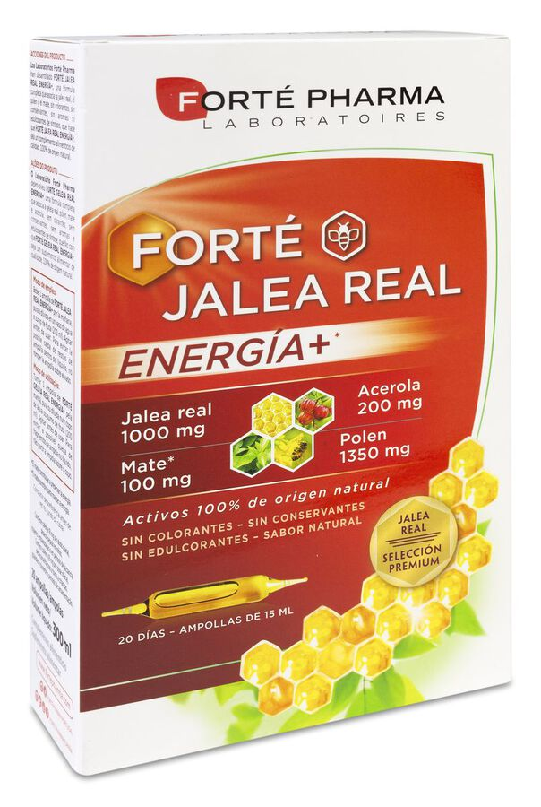 Forté Pharma Jalea Real Energía+, 20 Uds