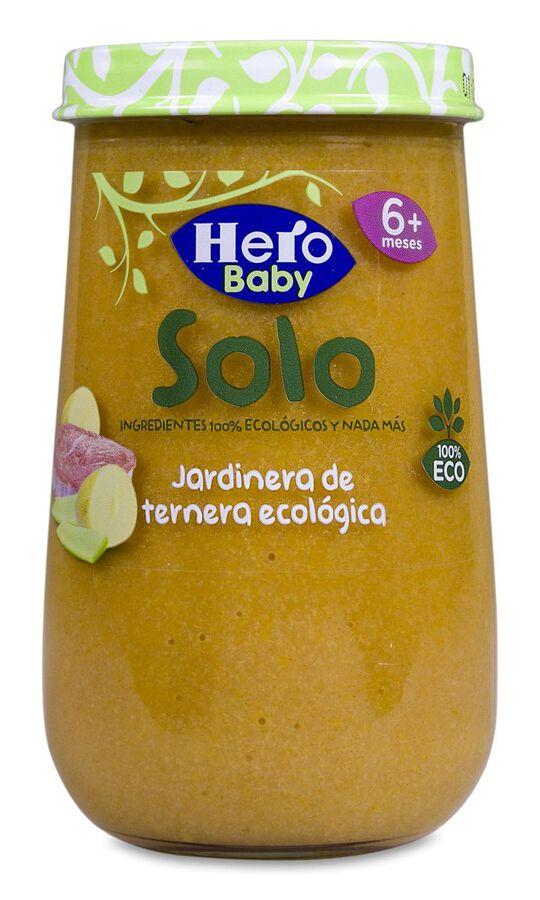 Hero Baby Solo Jardinera de Ternera Ecológica, 190 g