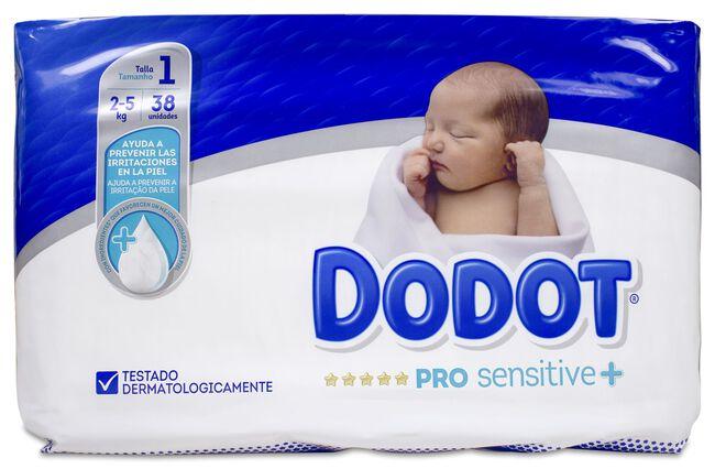 Dodot Pro Sensitive Talla 1 2-5 kg, 38 Uds