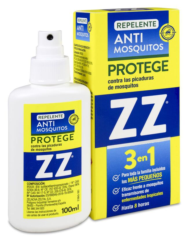 ZZ Repelente Anti-Mosquitos 3 en 1, 100 ml