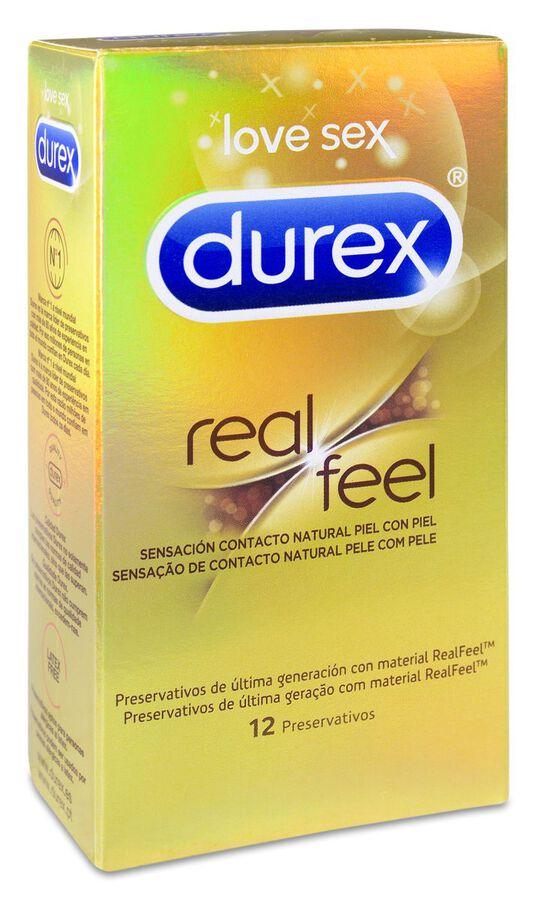 Durex Real Feel Preservativo Sin Látex, 12 Uds