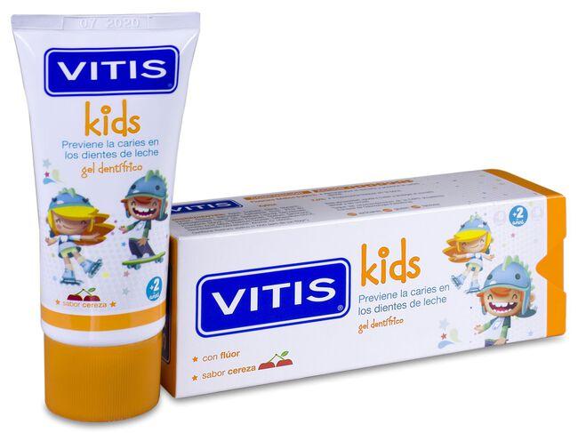 Vitis Kids Gel Dentífrico Sabor Cereza, 50 ml