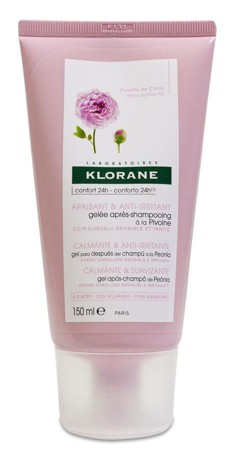 Klorane Gel Capilar Calmante a la Peonia, 150 ml