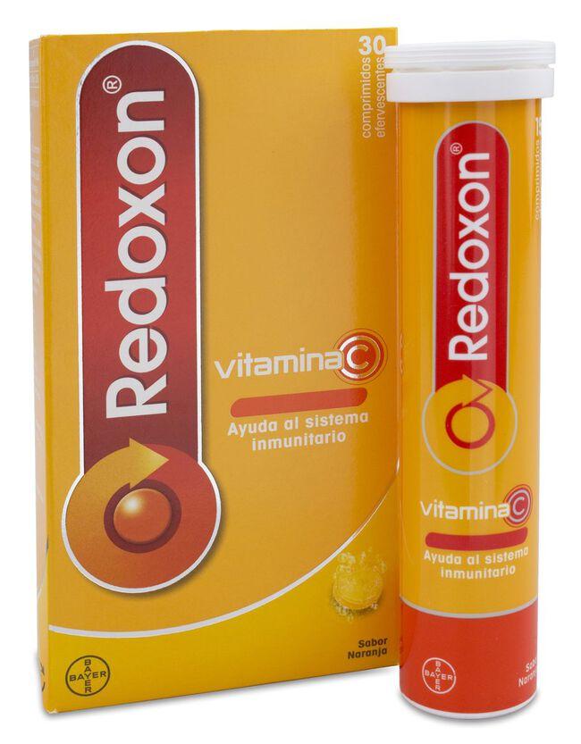 Redoxon Vitamina C Efervescente Sabor Naranja, 30 Comprimidos