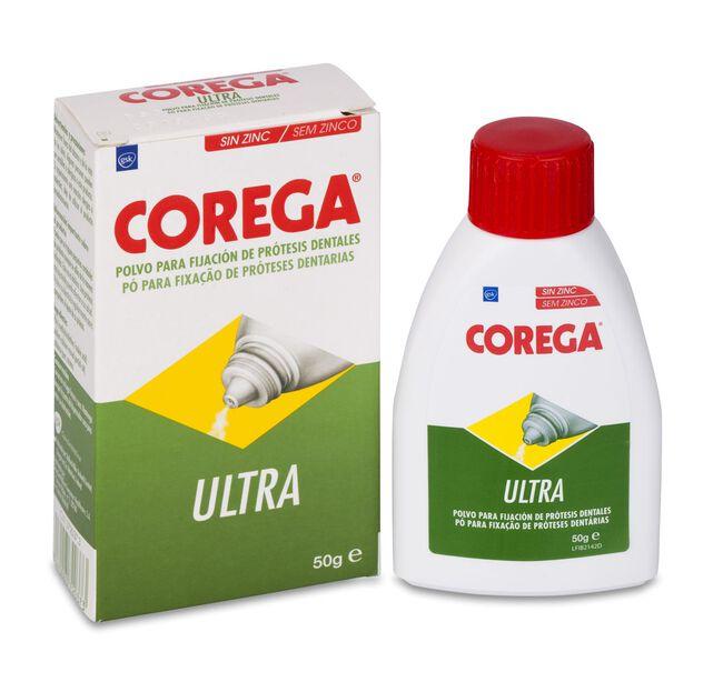 Corega Ultra Adhesivo Prótesis Dental Polvo, 50 g