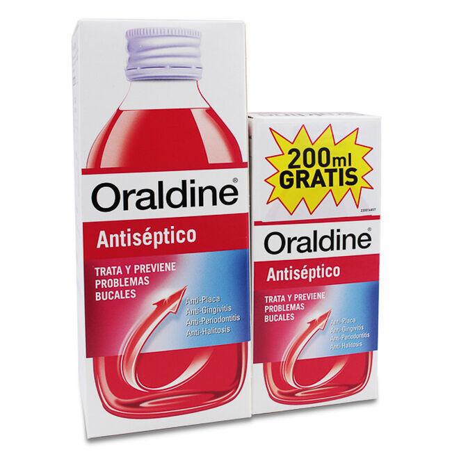 Pack Oraldine Antiséptico, 400 ml + 200 ml