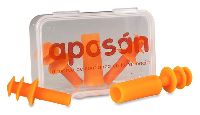 Aposán Tapones Silicona Inyectada Adultos, 2 Uds