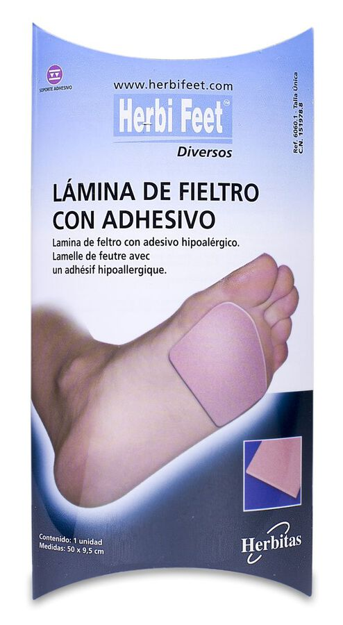Herbi Feet Lámina de Fieltro 9,5 x 50 cm, 1 Ud