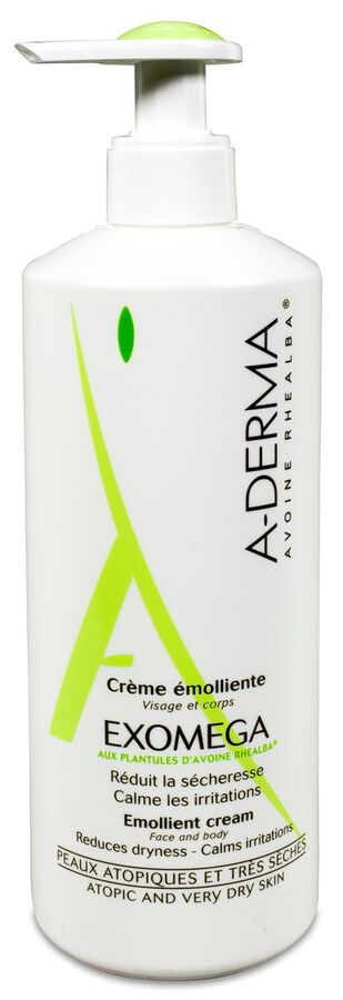 A-Derma Exomega Control Crema Emoliente, 400 ml