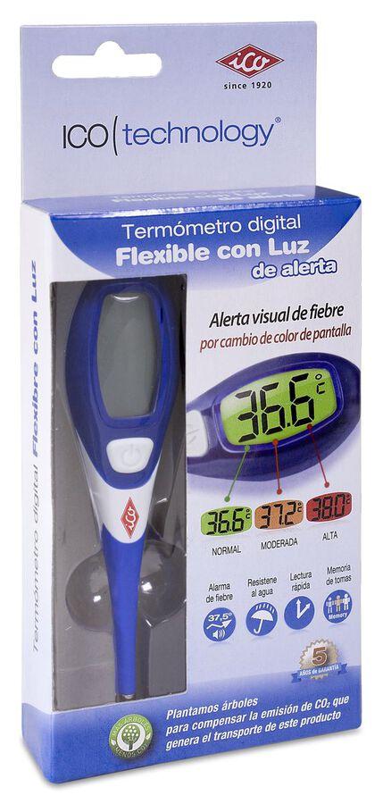 Ico Termómetro Digital Flexible con Luz, 1 Ud