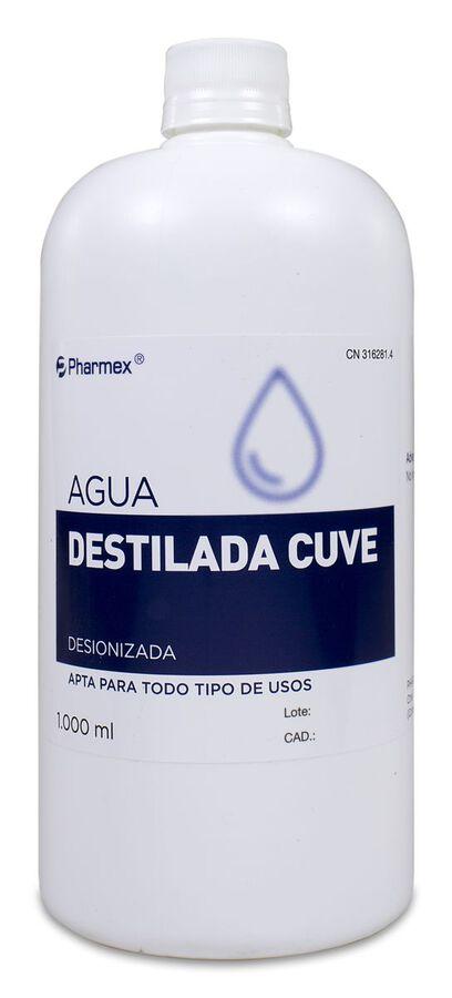 Pharmex Agua Destilada Cuve, 1 L