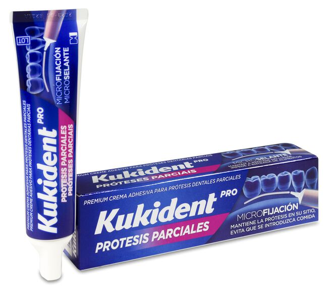Kukident Adhesivo para Prótesis Dentales Parciales, 40 g