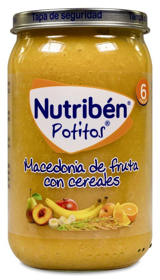 Nutribén Potitos Macedonia de Fruta con Cereales, 235 g