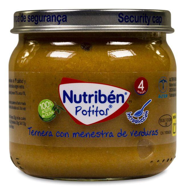 Nutribén Potitos Ternera con Menestra de Verduras, 120 g
