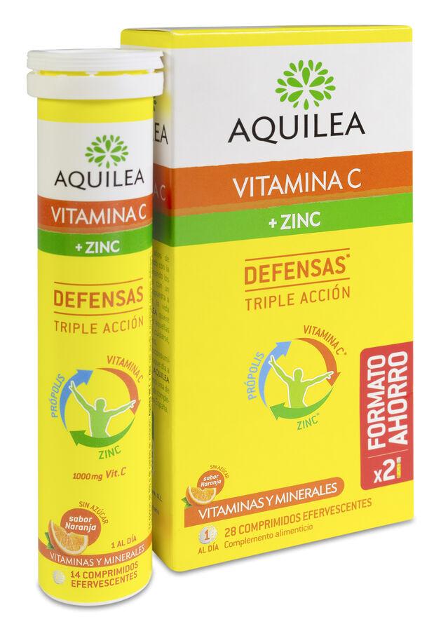 Aquilea Vitamina C + Zinc, 28 Comprimidos Efervescentes