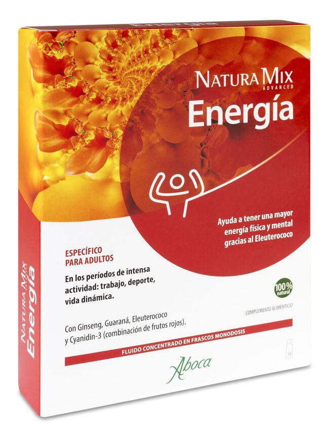 Aboca Natura Mix Advanced Energía, 10 Frascos Monodosis