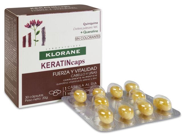 Klorane Keratincaps Cabello y Uñas, 30 Cápsulas