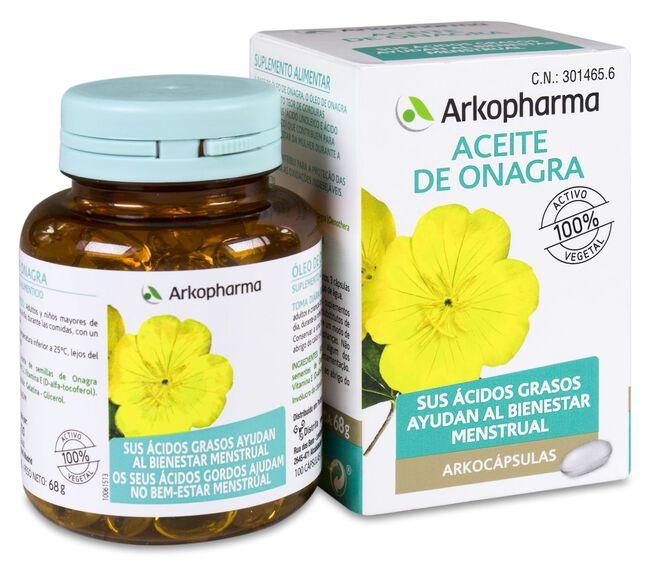 Arkopharma Arkocápsulas Aceite de Onagra, 100 Perlas image number null