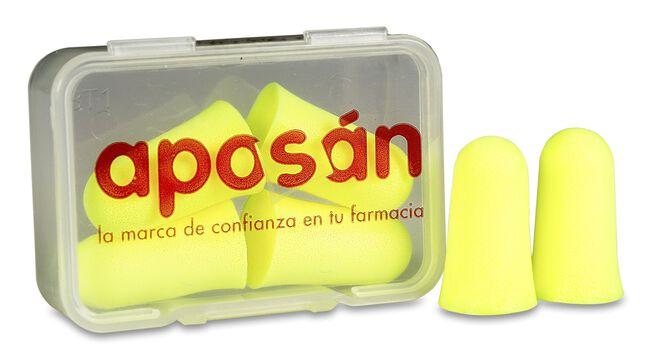 Aposán Tapones Espuma de Poliuretano, 4 Uds
