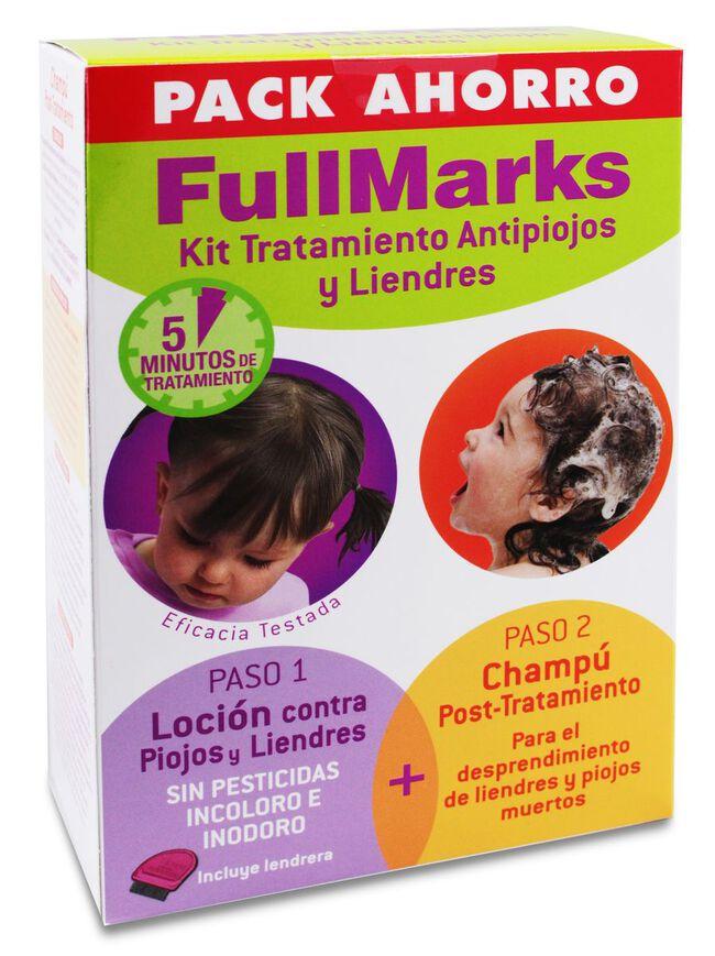 Kit FullMarks Antipiojos Loción Pediculicida + Champú Post-Tratamiento, 1 Ud