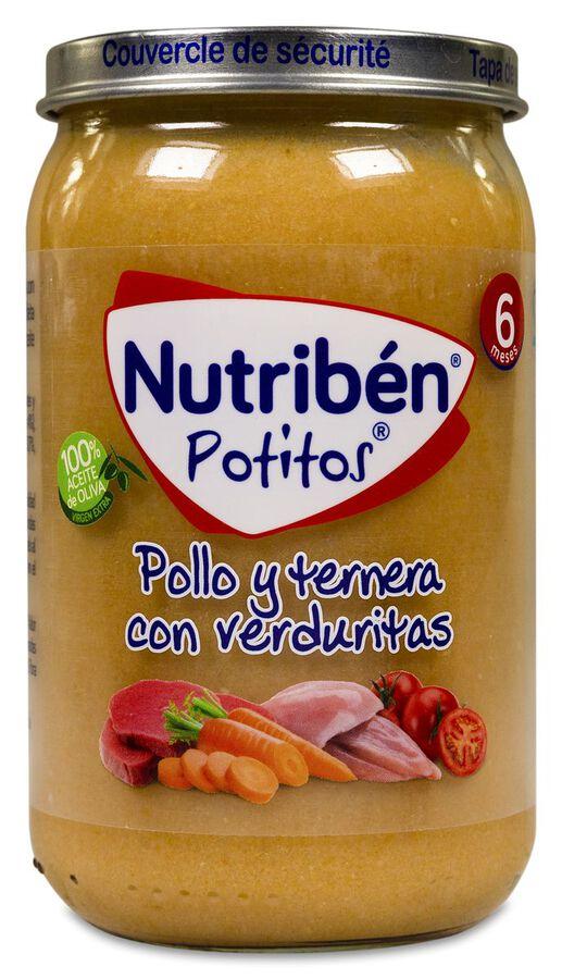 Nutribén Potitos Pollo y Ternera con Verduritas, 235 g