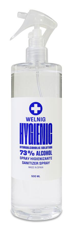 Welnig Hygienic Spray Loción Hidroalcohólica, 500 ml