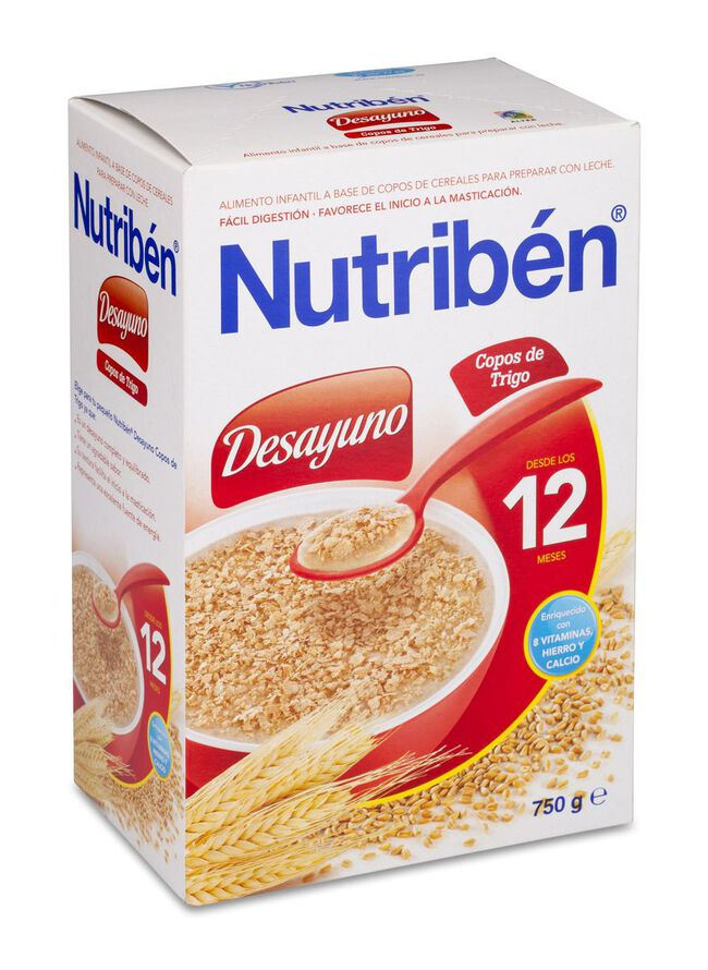 Nutribén Desayuno Copos de Trigo, 750 g
