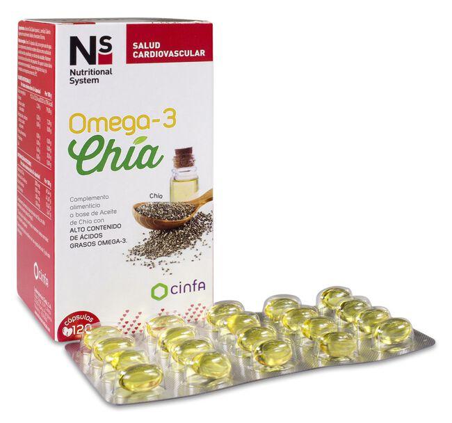 Ns Omega-3 Chía, 120 Cápsulas