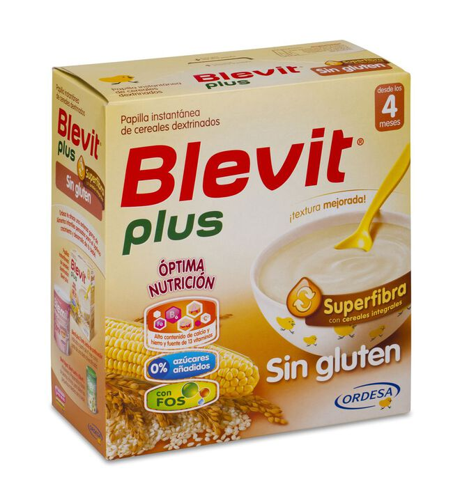 Blevit Plus Superfibra Sin Gluten, 600 g