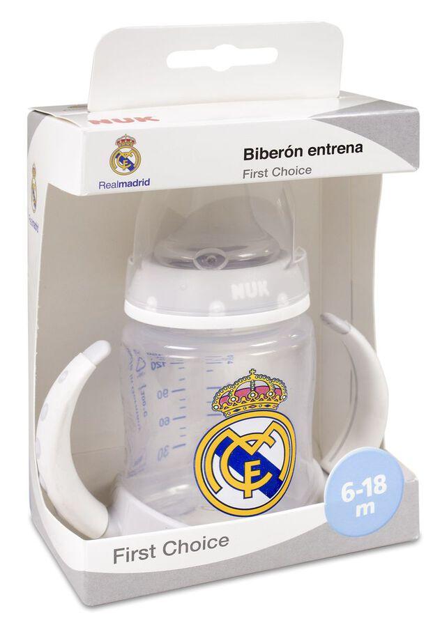 Nuk Biberón Entrena Tetina Silicona Real Madrid, 1 Ud