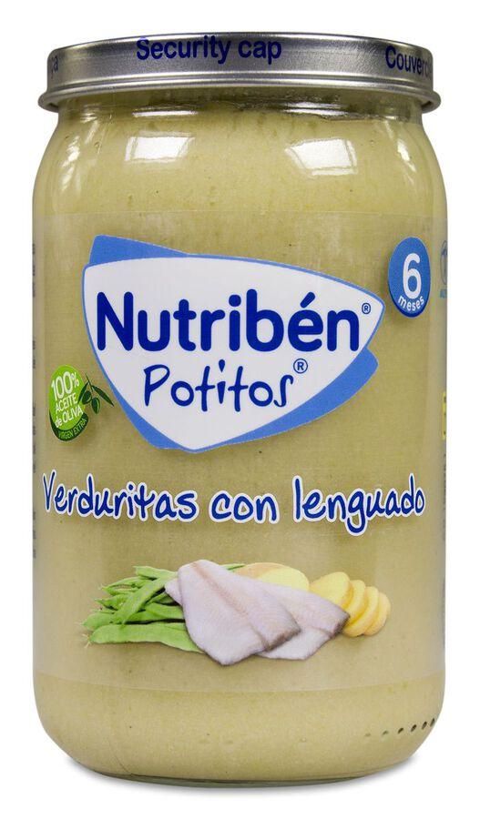 Nutribén Potitos Verduritas con Lenguado, 235 g