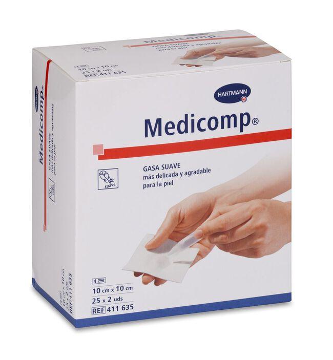 Medicomp Compresas Non Woven 10 x 10 cm, 50 Uds