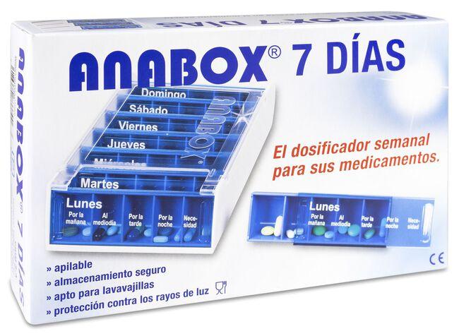 Anabox Pastillero Semanal 5 Tomas, 1 Ud
