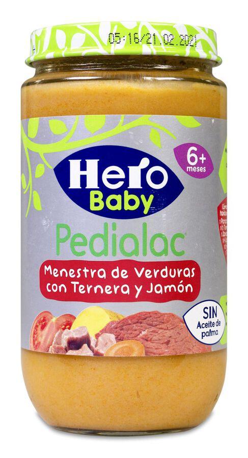 Hero Baby Pedialac Sin Guiso de Verduras con Ternera y Jamón, 235 g