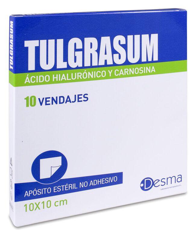Tulgrasum Apósito Estéril 10 cm x 10 cm, 10 Apósitos