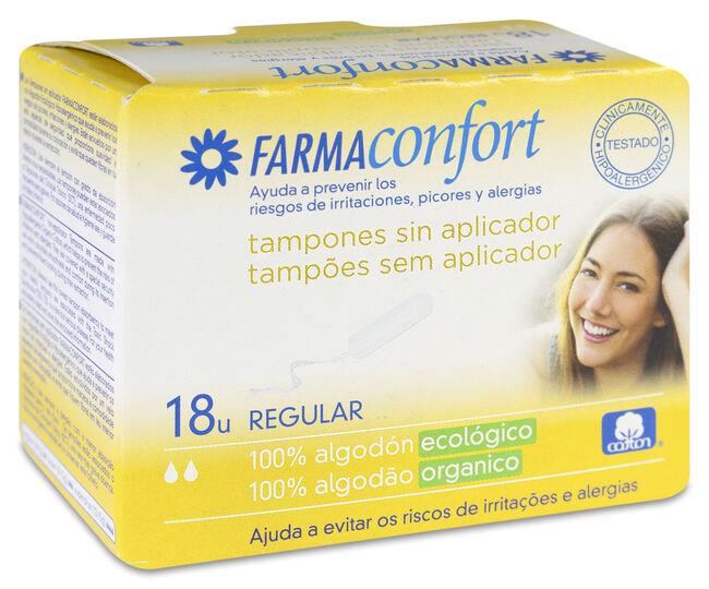 Farmaconfort Tampón sin Aplicador Algodón Regular, 18 Tampones
