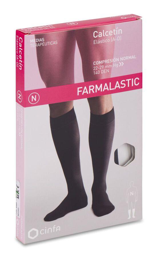 Farmalastic Calcetín Compresión Normal Negro Talla Mediana, 1 Par