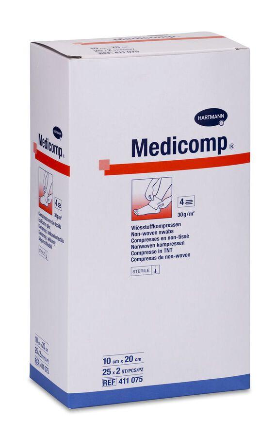 Medicomp Compresas Non Woven Aposito Esteril 10 X 20 cm, 25 Uds