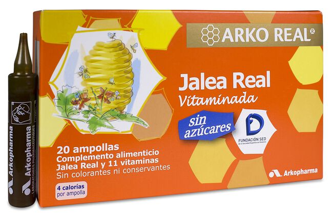 Arkopharma Arkoreal Jalea Real Sin Azúcares, 20 Ampollas