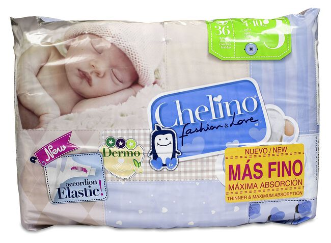 Chelino Fashion&Love. Talla 3 4 - 10 kg, 36 Uds