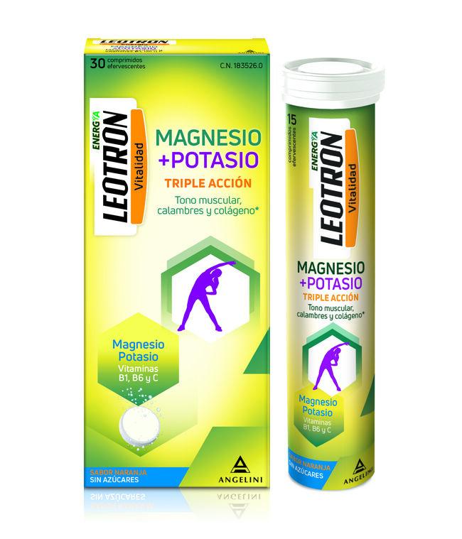 Leotron Magnesio + Potasio, 15 Comprimidos