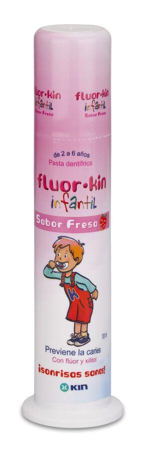 Fluor Kin Infantil Pasta Dentifrica Fresa, 100 ml