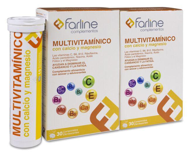 Duplo Farline Multivitamínico Comprimidos Efervescentes, 60 Uds