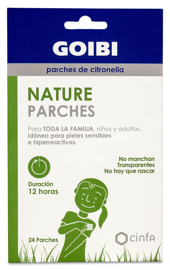 Goibi Nature Parches de Citronella, 24 Uds
